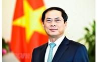 中国外交部长王毅致电祝贺裴青山同志当选越南外交部长