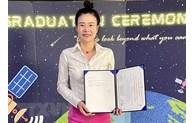 越南女博士凭盐渍化研究项目荣获国际奖