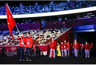 2020年东京奥运会开幕式中越南代表团入场仪式(组图)