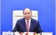 越南国家主席阮春福在河内以视频方式出席亚太经合组织领导人非正式会议