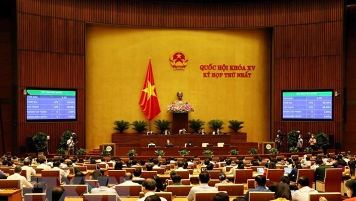 越南第十五届国会第一次会议最后一个工作日:通过多项重要决议