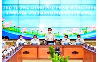范明正总理与胡志明市领导班子举行工作会议