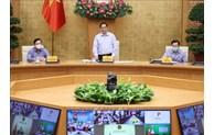 范明正总理与正按照16号指示实施社交距离措施的20个省市举行视频会议