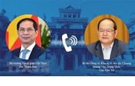 越南外交部长裴青山与广西壮族自治区党委书记鹿心社举行会谈