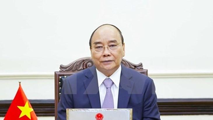 越南国家主席阮春福与俄罗斯总统普京通电话