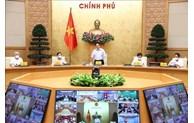 政府总理范明正与全国9000多个乡坊领导人举行视频会议 重振防疫工作
