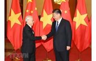 越南党和国家领导人向中国领导人致国庆贺电