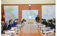 越南国防部副部长黄春战会见越南驻外代表机构首席代表