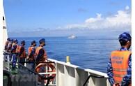 越南海警与中国海警在北部湾划界线附近海域进行联合检查活动