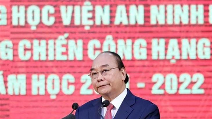 国家主席阮春福出席人民安全学院传统日75周年纪念典礼