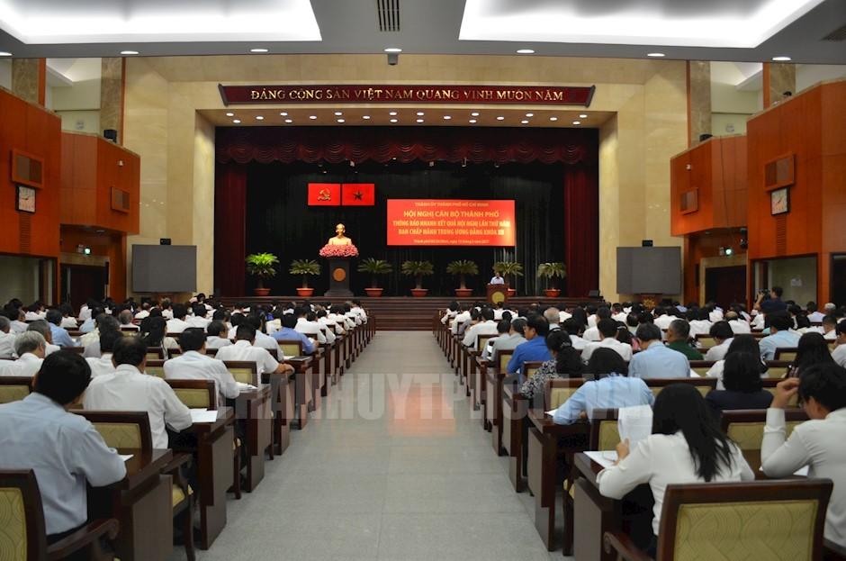 Thành ủy TP Hồ Chí Minh thông báo nhanh kết quả Hội nghị Trung ương 5