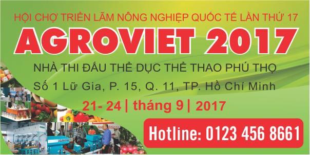 AgroViet 2017 sẽ diễn ra tại TP Hồ Chí Minh trong tháng 9/2017
