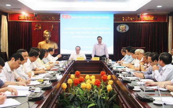 Tăng cường phối hợp công tác giữa Ban Tổ chức Trung ương với Thành ủy TP. Hồ Chí Minh
