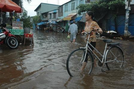 Cảnh báo ngập do triều cường và mưa lớn trên địa bàn TP.Hồ Chí Minh