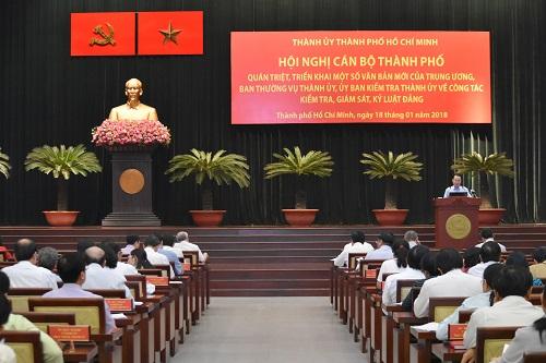 Thành ủy TP. Hồ Chí Minh triển khai thực hiện một số văn bản mới về công tác kiểm tra, giám sát