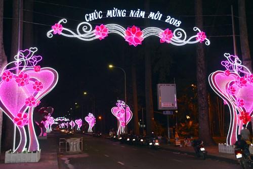 Thành phố Hồ Chí Minh lung linh sắc màu đón chào năm mới