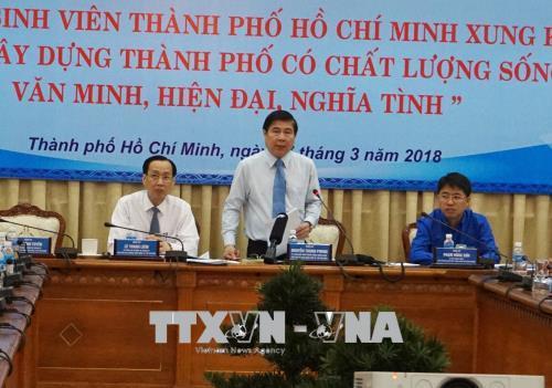 Lãnh đạo Thành phố Hồ Chí Minh gặp gỡ sinh viên tiêu biểu