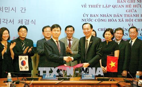 Thiết lập quan hệ hữu nghị và hợp tác giữa TP. Hồ Chí Minh và tỉnh Gyeonggi, Hàn Quốc