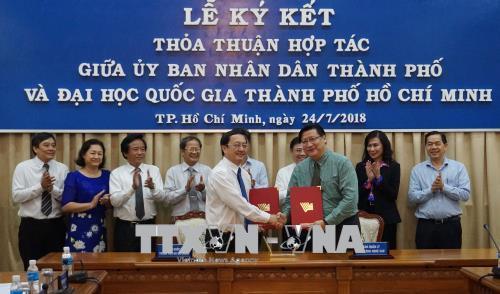 Đại học Quốc gia TP Hồ Chí Minh hỗ trợ TP Hồ Chí Minh thực hiện các chương trình đột phá