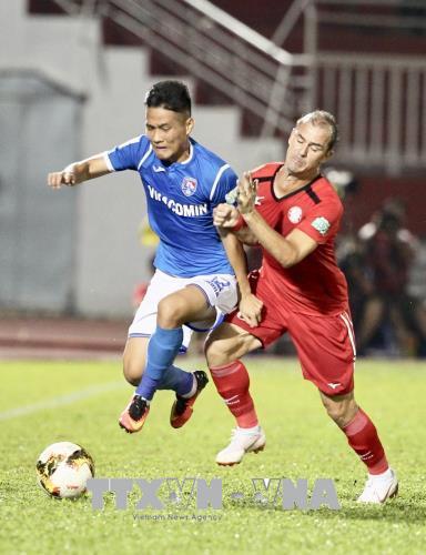 V.League 2018: Câu lạc bộ TP. Hồ Chí Minh có chiến thắng nhọc nhằn 2-1 trước Than Quảng Ninh