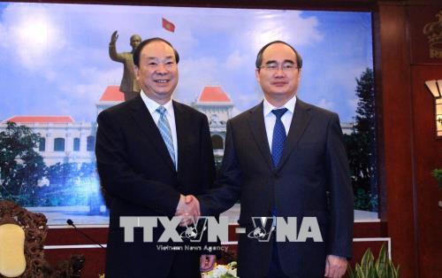 Lãnh đạo Thành phố Hồ Chí Minh tiếp Đoàn đại biểu Đảng Cộng sản Trung Quốc