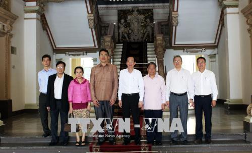 Đoàn cán bộ Lào tìm hiểu kinh nghiệm phát triển khoa học - công nghệ của TP. Hồ Chí Minh