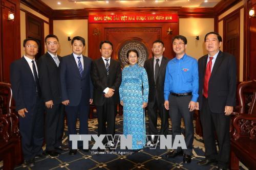 Lãnh đạo TP. Hồ Chí Minh tiếp Đoàn đại biểu cấp cao Trung ương Đoàn Thanh niên Cộng sản Trung Quốc