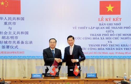 TP. Hồ Chí Minh và TP. Trùng Khánh (Trung Quốc) thiết lập quan hệ thành phố hữu nghị