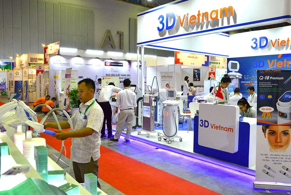 Hơn 600 gian hàng giới thiệu các sản phẩm mới trong lĩnh vực y tế