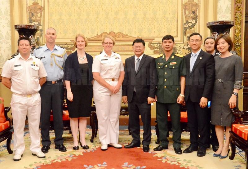 TPHCM đón đoàn đại biểu Tàu Hải quân New Zealand đến thăm và làm việc