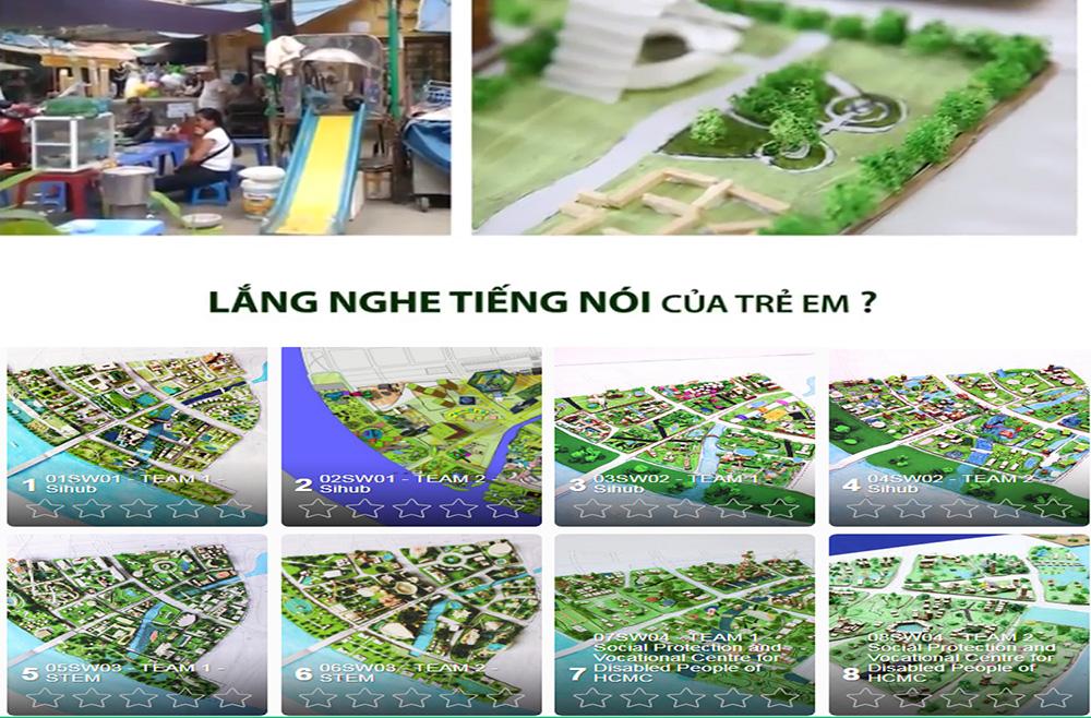 Triển lãm 22 mô hình - ý tưởng sáng tạo về đô thị thông minh thân thiện với trẻ em