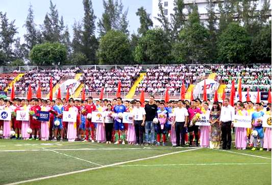 16 trường đại học, cao đẳng tham gia giải bóng đá sinh viên