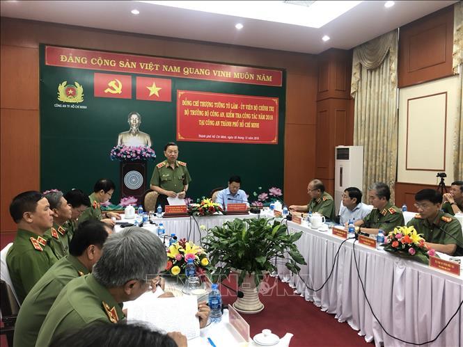 Bộ Công an kiểm tra công tác năm 2018 tại Công an Thành phố Hồ Chí Minh