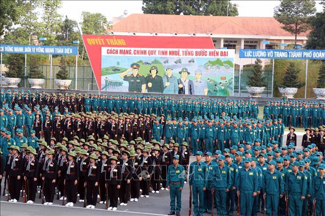 Xây dựng lực lượng vũ trang Thành phố Hồ Chí Minh vững mạnh toàn diện