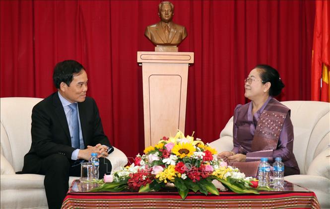 Lãnh đạo Thành phố Hồ Chí Minh chúc Tết Bunpimay của Lào