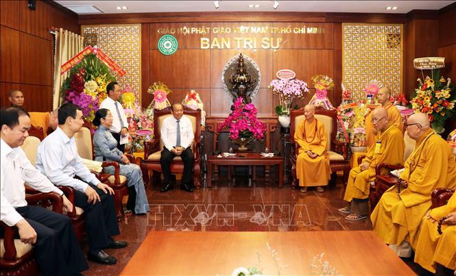 Phó Thủ tướng Trương Hoà Bình chúc mừng Đại lễ Phật đản tại TP. Hồ Chí Minh