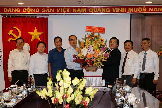 Lãnh đạo Thành phố Hồ Chí Minh chúc mừng các cơ quan báo chí