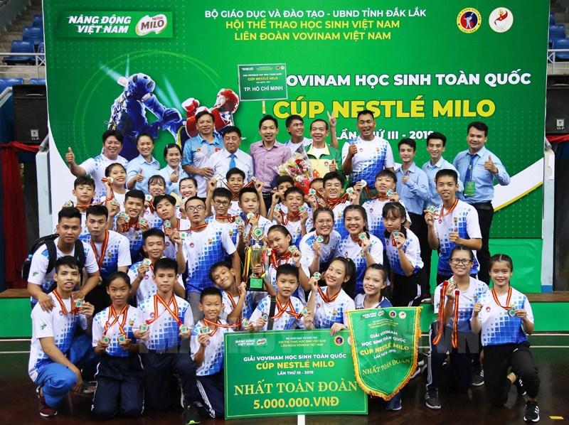 TPHCM nhất toàn đoàn giải Vovinam học sinh toàn quốc 2019