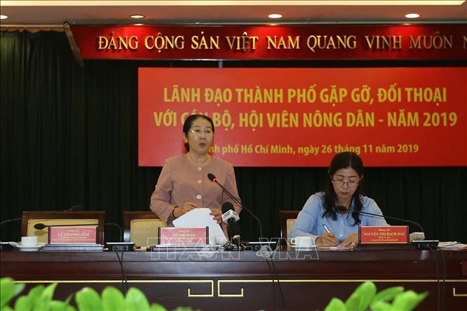 Lãnh đạo TP Hồ Chí Minh đối thoại với cán bộ, hội viên nông dân