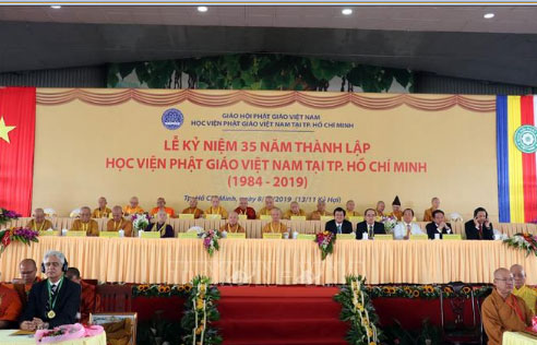 Kỷ niệm 35 năm thành lập Học viện Phật giáo Việt Nam tại TP. Hồ Chí Minh