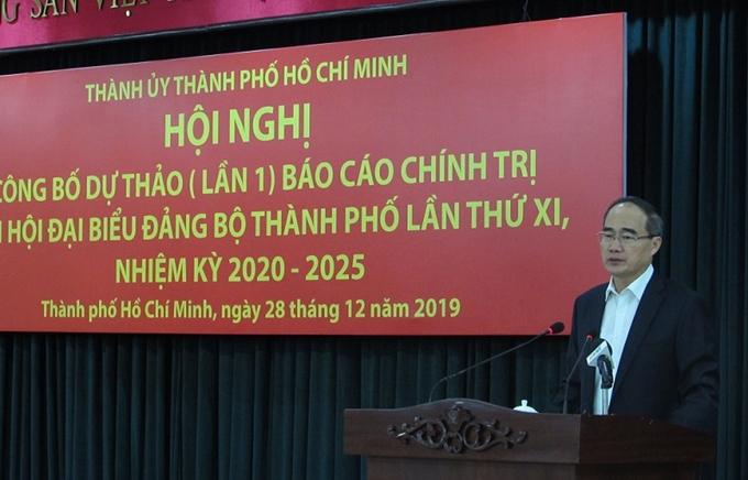 Công bố Dự thảo (lần 1) Báo cáo chính trị Đại hội đại biểu Đảng bộ TP Hồ Chí Minh lần thứ XI