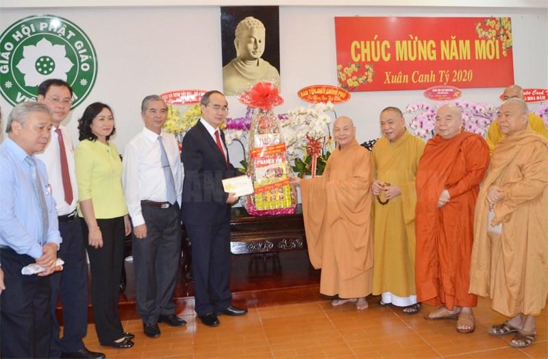 Lãnh đạo TPHCM thăm, chúc Tết các vị chức sắc, tổ chức tôn giáo