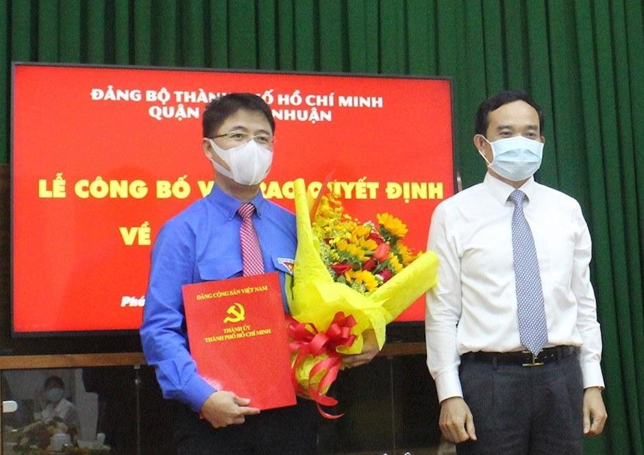 Đồng chí Phạm Hồng Sơn giữ chức Bí thư Quận ủy Phú Nhuận