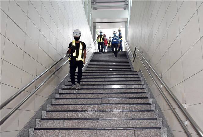 Cơ bản hoàn thiện tầng B1 ga Nhà hát Thành phố thuộc dự án metro số 1