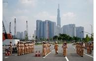 58 nữ Cảnh sát giao thông dẫn đoàn của TP Hồ Chí Minh