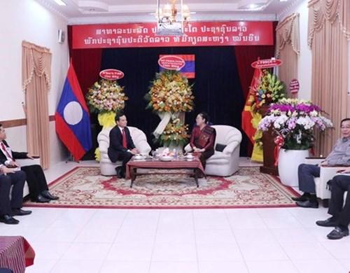 Lãnh đạo TP chúc mừng Tổng Lãnh sự quán Lào nhân dịp Tết cổ truyền