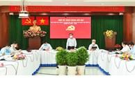 Đồng chí Nguyễn Văn Nên làm việc với Ban Thường vụ Quận ủy quận 7