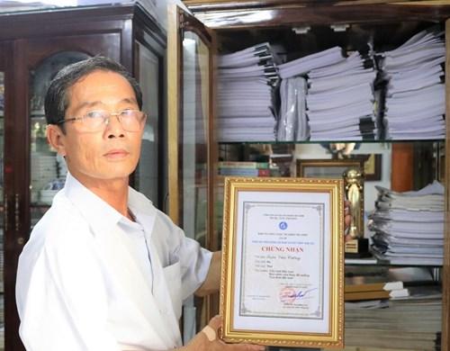 Cựu chiến binh Trần Văn Cường: Gửi gắm giá trị cuộc sống qua những áng thơ ca