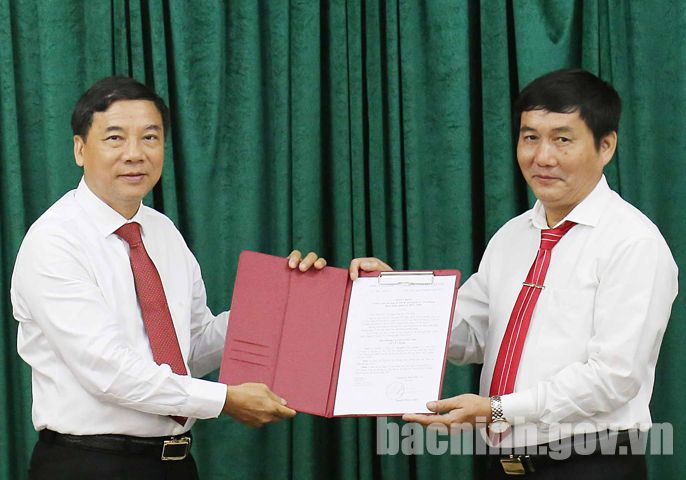 Công bố Quyết định Phó Bí thư Đảng ủy Khối Doanh nghiệp tỉnh và Phó Bí thư Huyện ủy Yên Phong
