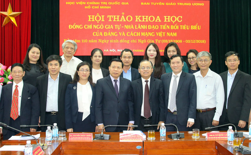 """Hội thảo khoa học """"Đồng chí Ngô Gia Tự - Nhà lãnh đạo tiền bối tiêu biểu của Đảng và cách mạng Việt Nam"""""""